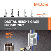 Mitutoyo Height Gage Promotion 2021