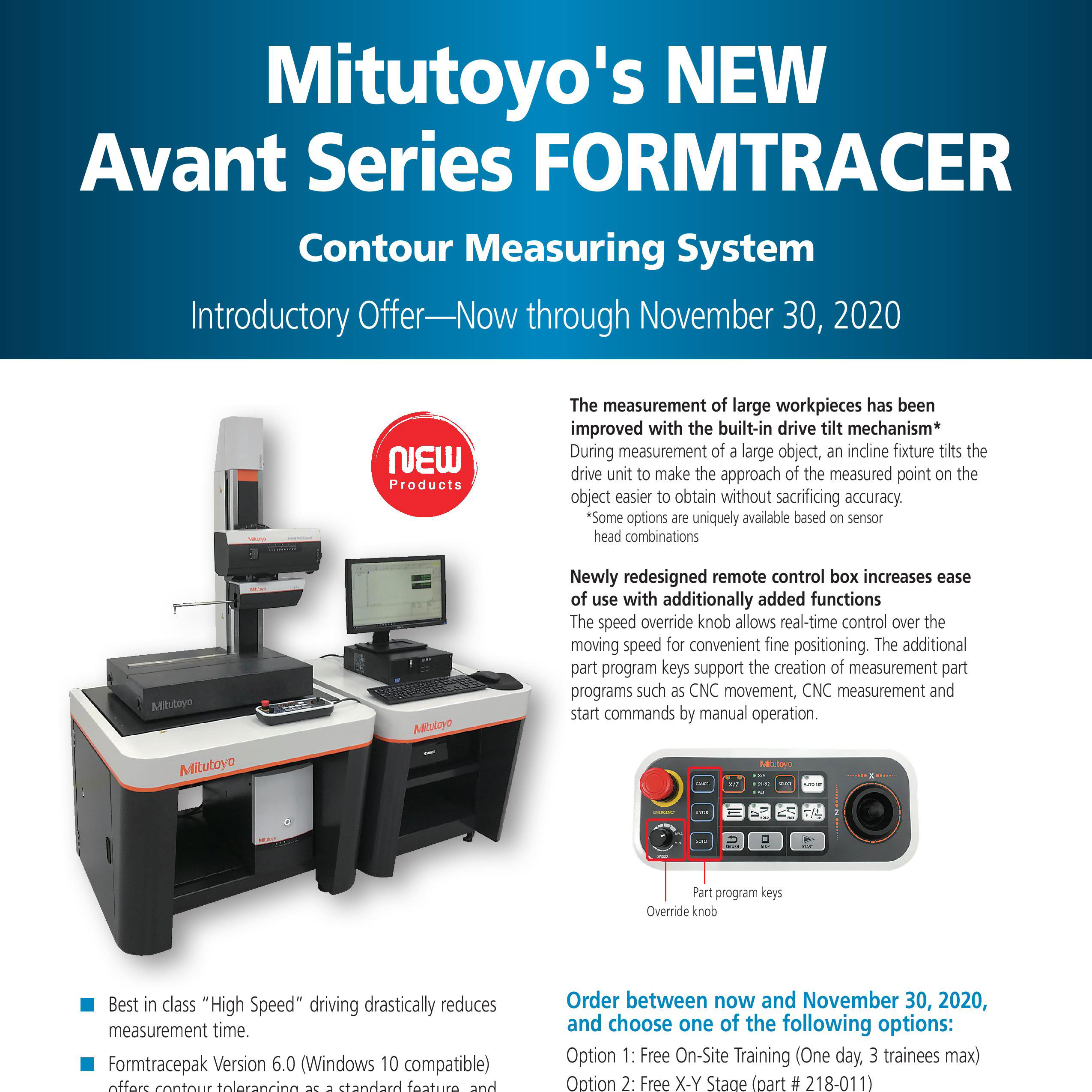 Mitutoyo's NEW Avant Series FORMTRACER